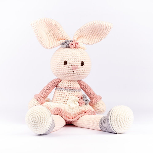 Handmade Crochet Bunny Joyful