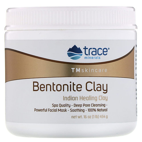 Trace Minerals Research, Bentonite Clay, Indian Healing Clay Mask (454 g)