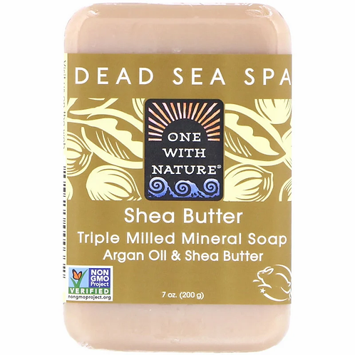 One with Nature, Triple Milled Mineral Soap, Shea Butter (200 g)