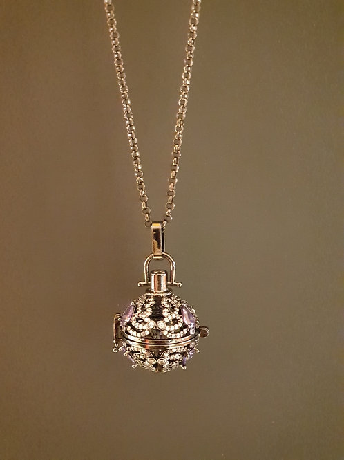 Essential oil Diffuser Locket Necklace Gunmetal
