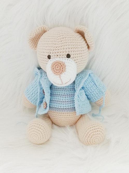 Handmade Crochet Bear Lucas