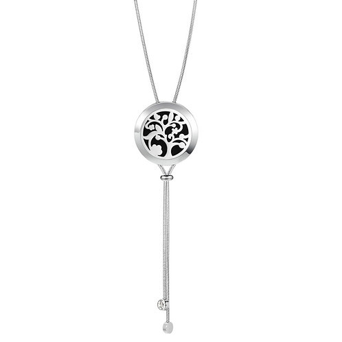 Stainless Steel Diffuser Necklace with Adjustable Chain (Tree of Life )