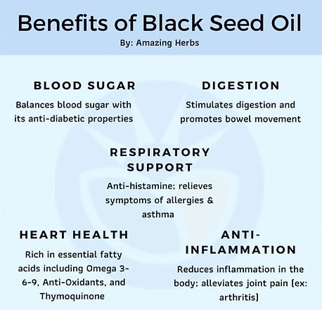 Blackseed oil Benefits, Blood sugar, immune system, respiratory support