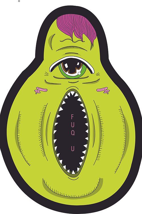 FUQ U Avocado Sticker