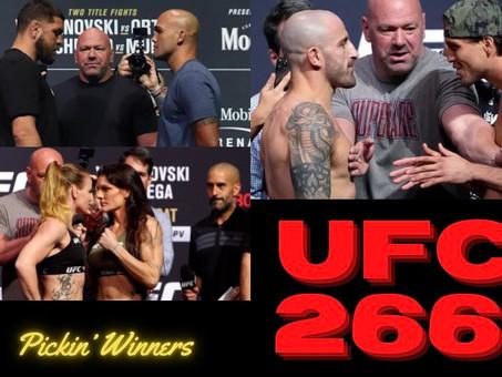 UFC 266: Picks & Predictions