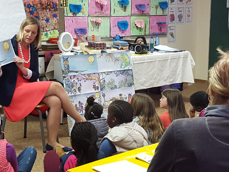 Author visit at various schools- Full Moon Festivities