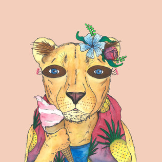 lion pink