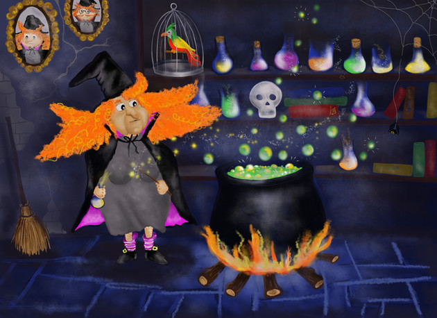Greta the witch- bubble bubble toil and