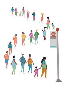Social distancing- transport