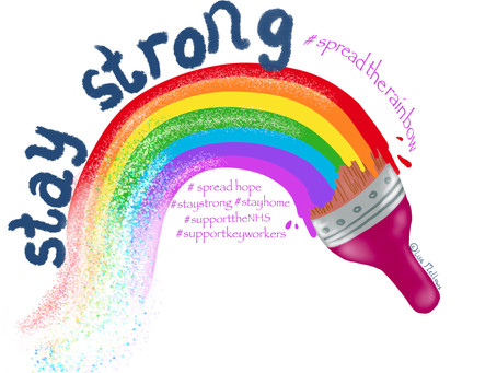 #spreadtherainbow and Stay strong during these unsure times!