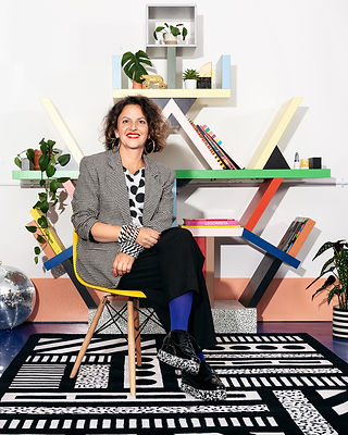 Camille Walala_in the studio_ with White