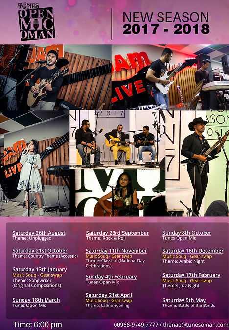 Playtunes Institute, Music School, Events, Tunes Oman, Open Mic