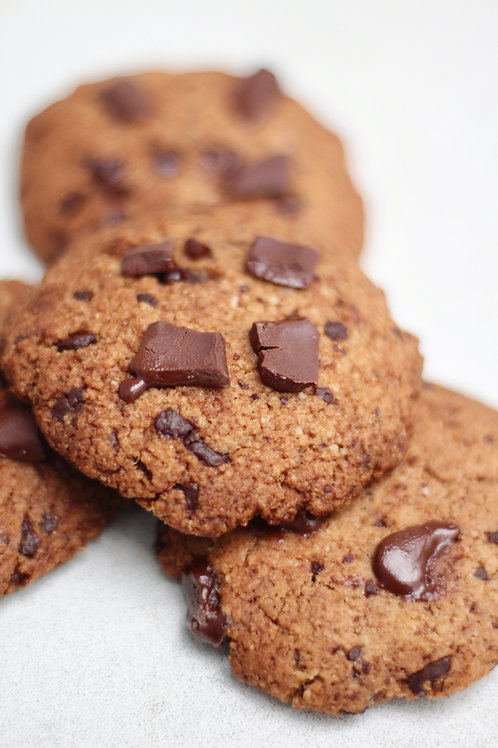 Cookie de Baunilha e Chocolate Low Carb