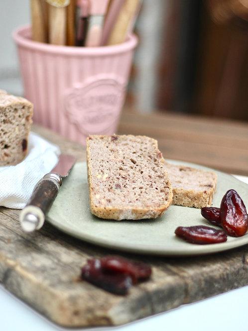 Pão de Sarraceno, Tâmaras e Nozes Funcional