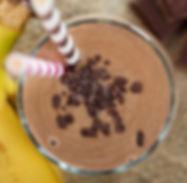 Super shake de café e chocolate com proteína