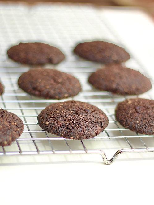 Cookie de Cacau e Chocolate Vegano