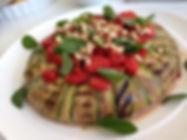 Torta de Abobrinha com Frango Cremoso e Tomatinho Assado