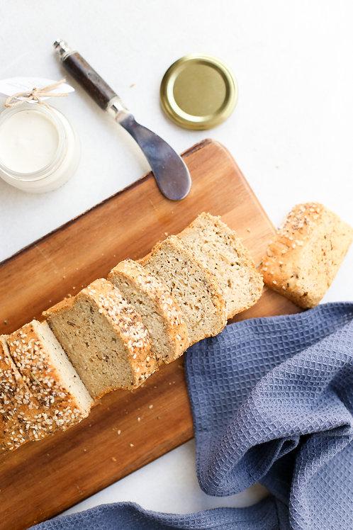 Pão de Quinoa e Ervas Vegano