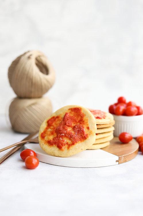 Mini pizza low carb (pacote com 4 unidades)