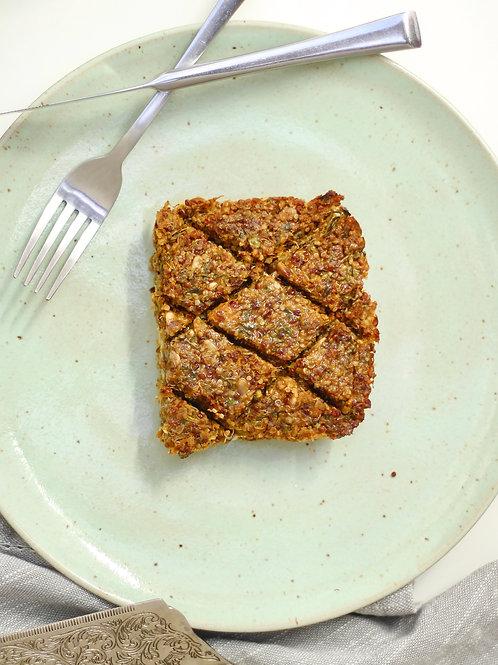 Quibe Vegano de Quinoa e Abóbora com recheio de requeijão de castanhas (grande)