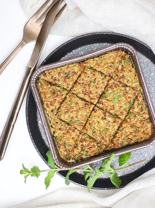 Quibe Vegano de Quinoa e Abóbora com recheio de requeijão de castanhas (dupla P)