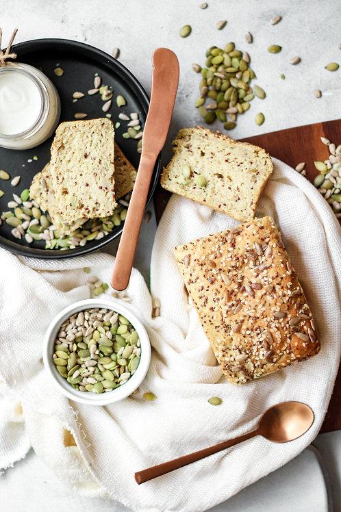 Pão Integral de Sementes e Grãos Vegano