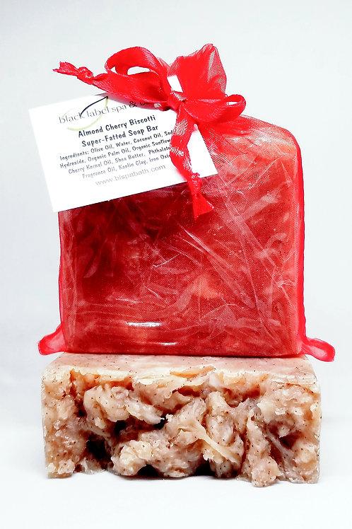 Almond Cherry Biscotti Super-Fatted Soap Bar