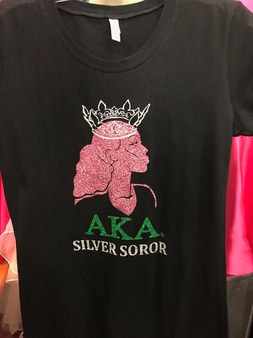 """Silver Soror"" Designer Tee"