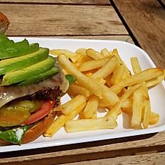 Avocado and Swiss Burger