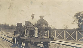 P.T. Miller at the Victoria Falls Bridge - 1905