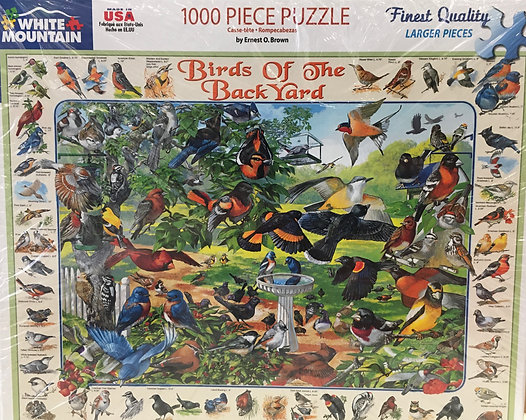 Birds Of The Back Yard Puzzle