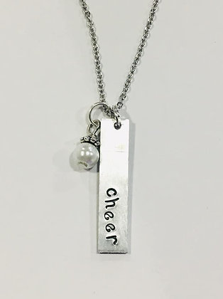 Cheer Hand-Stamped Necklace