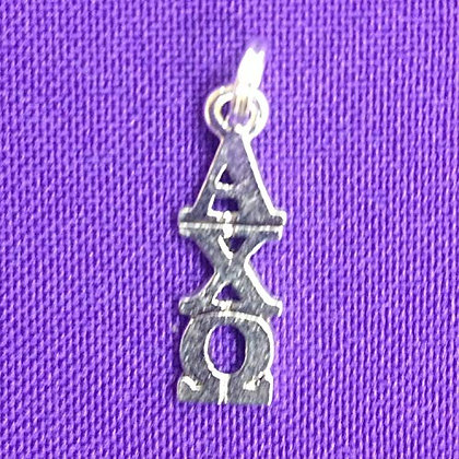 Alpha Chi Omega Sterling Silver Plate Lavaliere