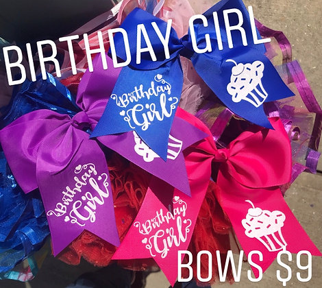 Birthday Girl Bows