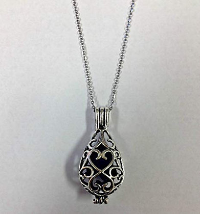 Lava Bead Diffuser Locket Necklace