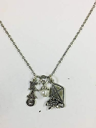 "Kappa Alpha Theta Trio Necklace with 18"" Chain"