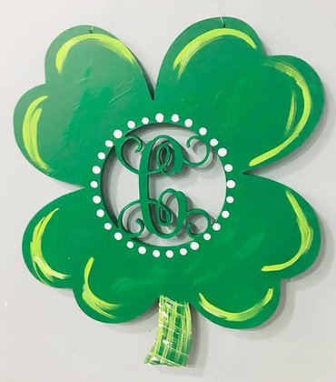 Shamrock Single Initial Cut Out