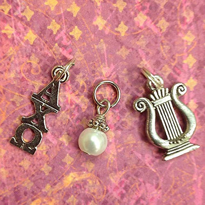 Alpha Chi Omega Trio of Essential Charms