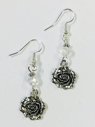 Rose Earrings, Kappa Delta, Phi Sigma Sigma mascot charm Earrings