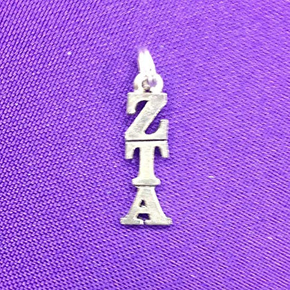 Zeta Tau Alpha Silver Plate Lavaliere
