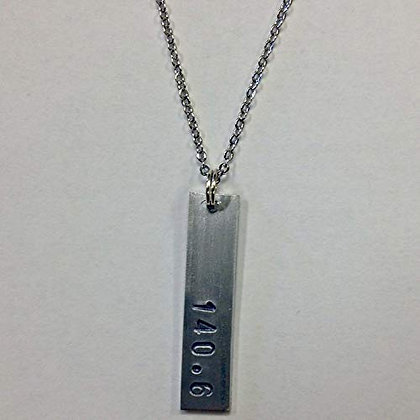 140.6 Hand Stamped Necklace