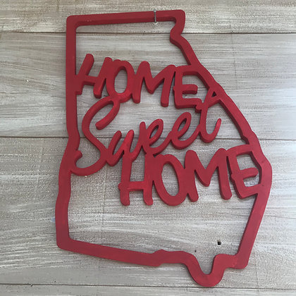 Home Sweet Home - State of Georgia Wooden Cut Out