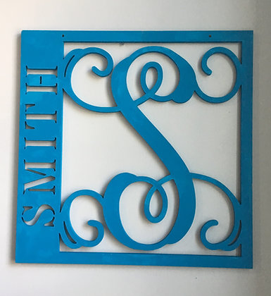 Square Initial and Name Cut Out