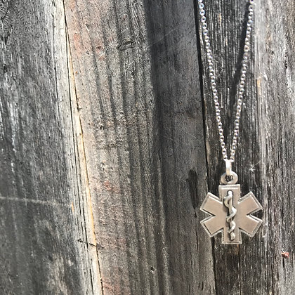 Medical Alert Necklace - Large Pendant (Engraveable)