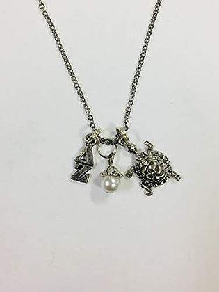"""Delta Zeta Trio Necklace with 18"""" Chain"""
