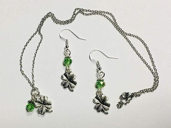Shamrock Earring and Necklace Set