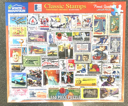 Classic Stamps - 550 Piece Jigsaw Puzzle