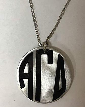 Alpha Gamma Delta - Monogram Necklace