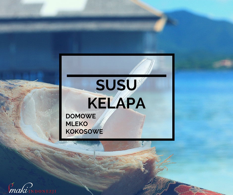 Smaki-Indonezji-Kuchnia-Indonezyjska-Susu - Kelapa - Domowe - Mleko -Kokosowe