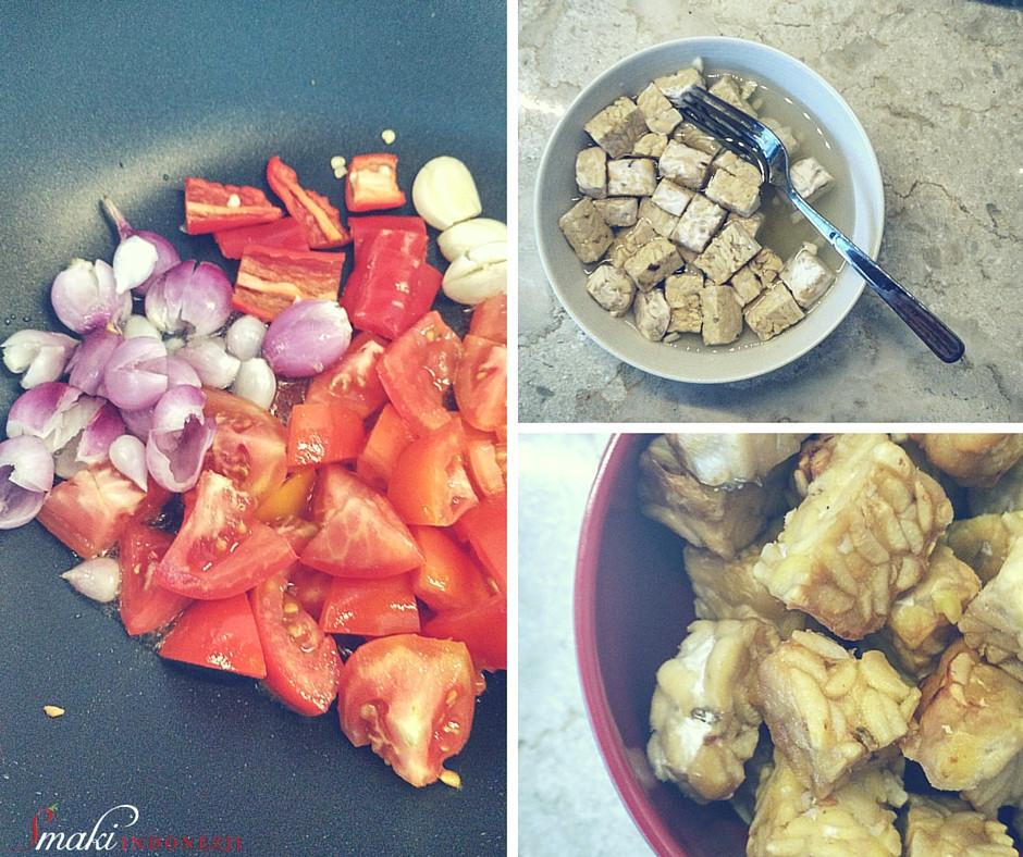 Tempeh Sambal Tomat Goreng, Smażone Tempeh w Sosie Pomidorowym, Smaki Indonezji, Pikantny sos pomidorowy